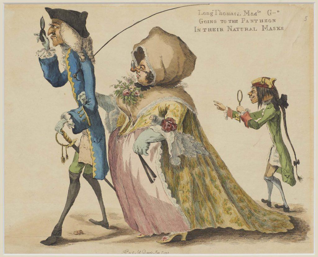 a caricature of three grotesque Georgians