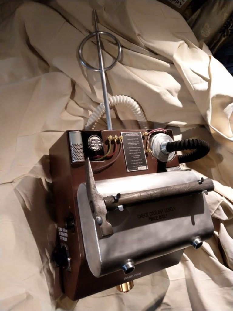a photo of a reconstructed radio receiver