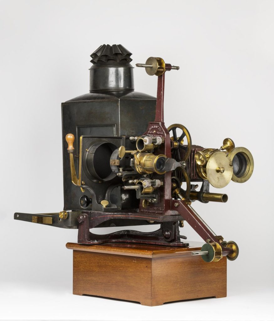a machine used to project early films, animatographs