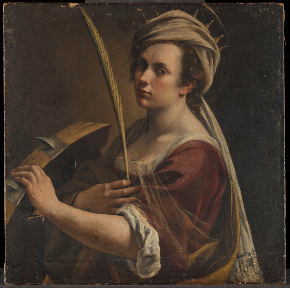 Artemisia Gentileschi's Self Portrait as Saint Catherine of Alexandria