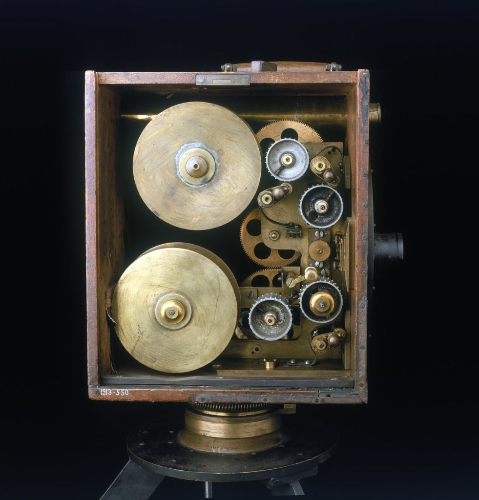 The inside of a Cinematograph camera