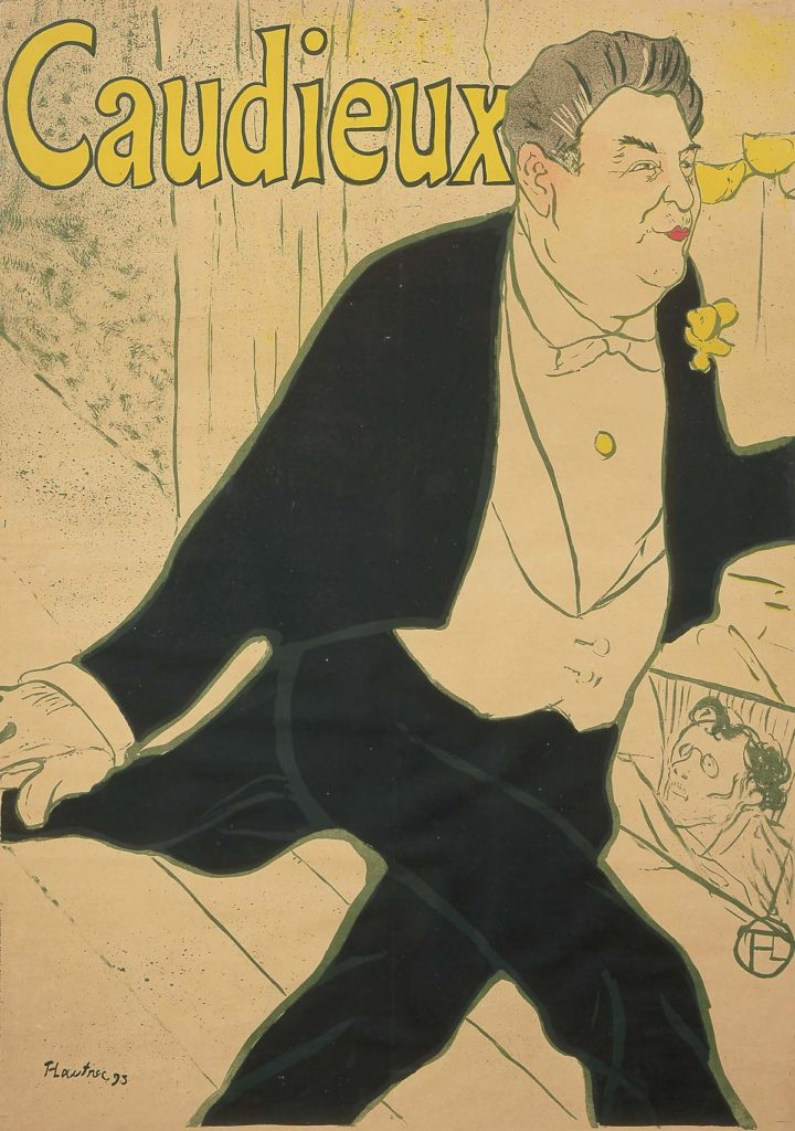 a poster featuring a foppish and well proportioned man in waistcoat and tails