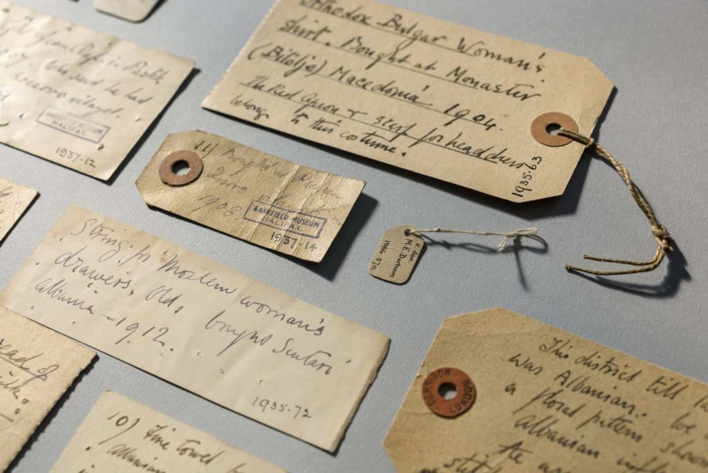 a photo of a group of handwritten labels