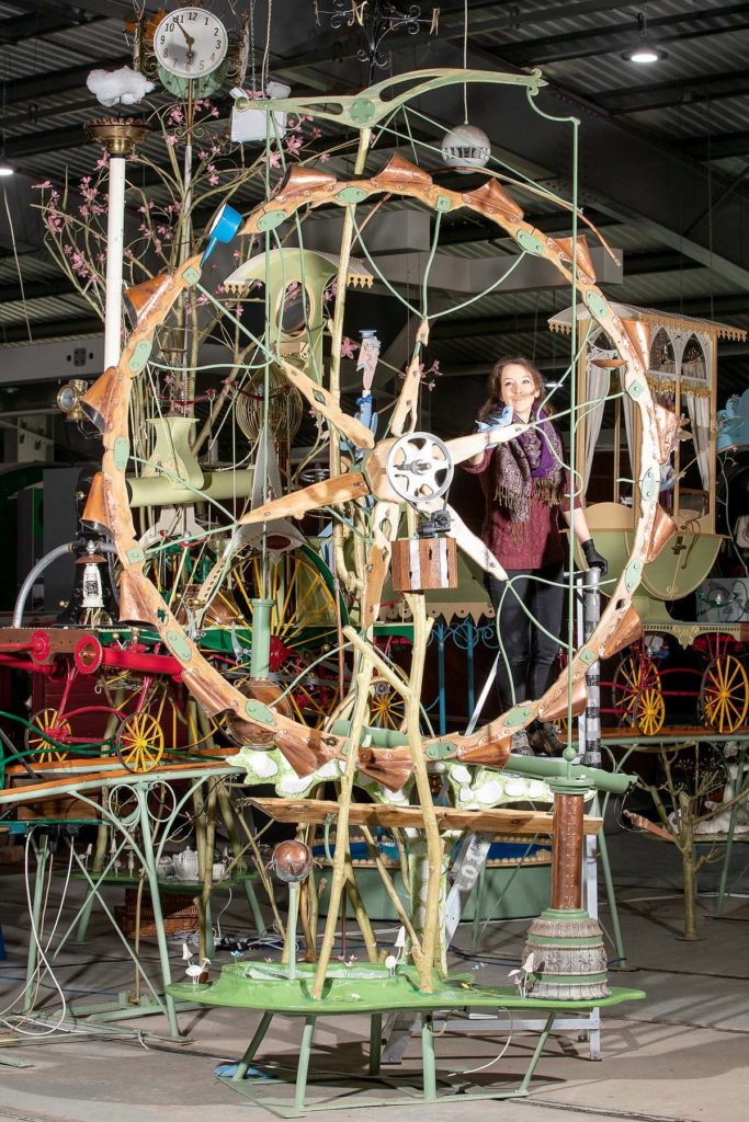 a photo of a ferris wheel part of a large automata