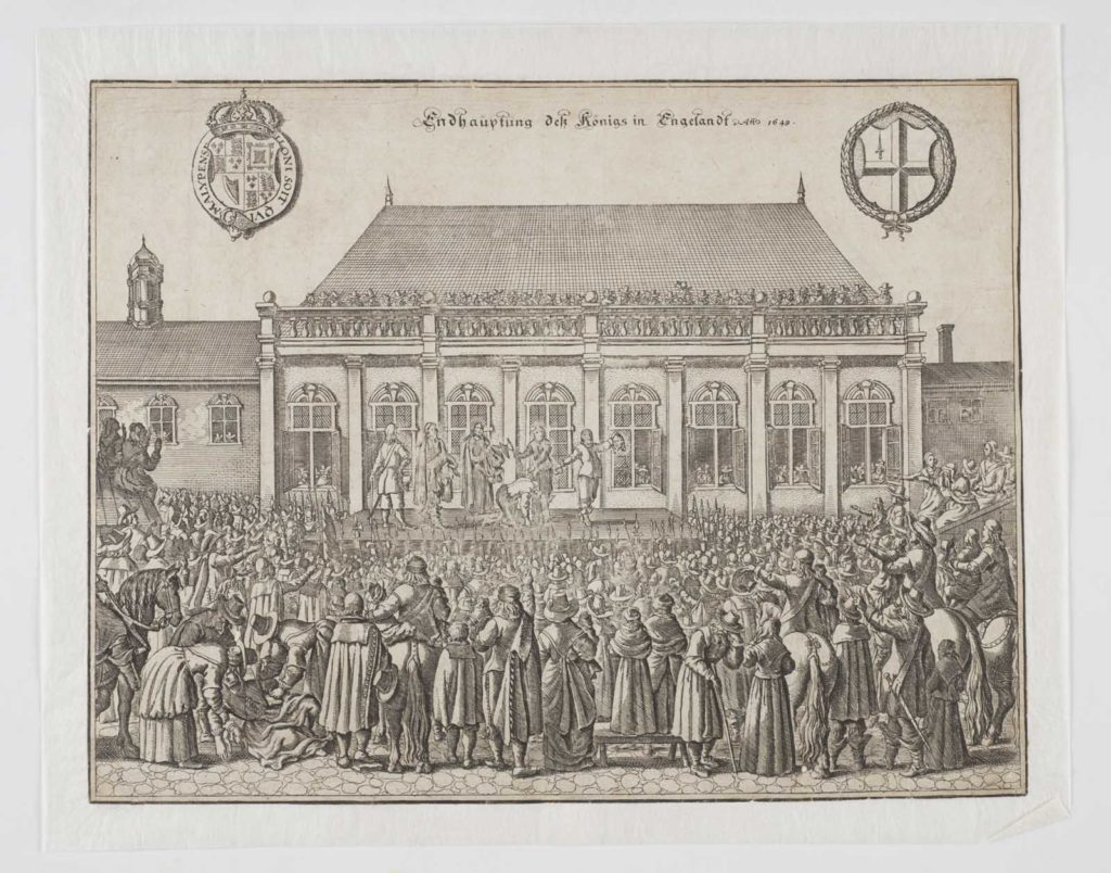 German engraving of the Execution of Charles I, 1649.