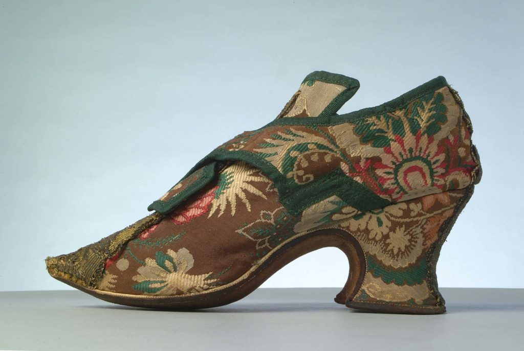 a photo of an celebratory embroidered shoe