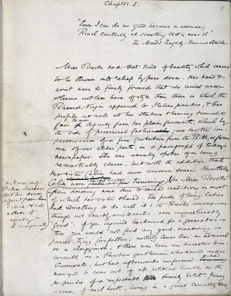 a handwritten manuscript page from