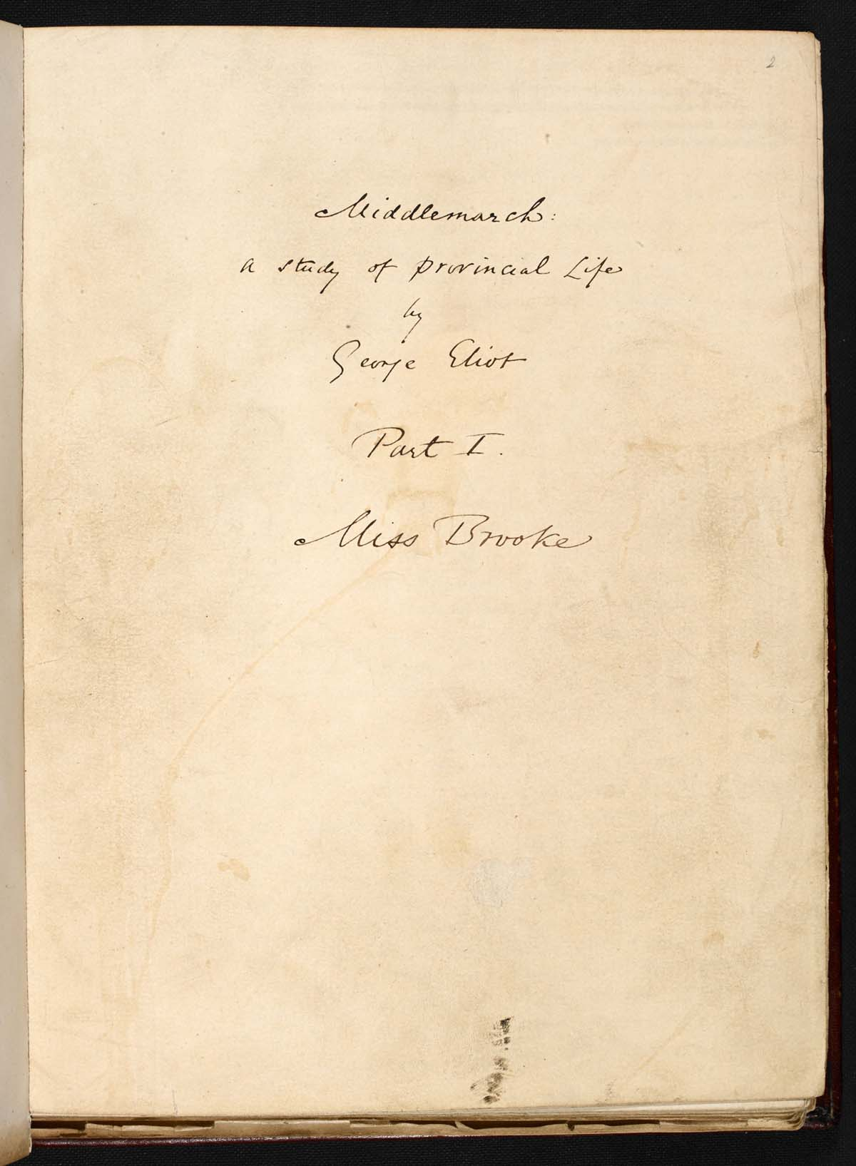 a page with a handwritten title