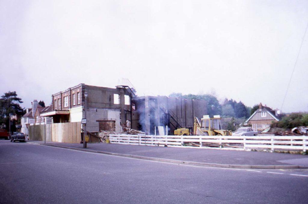 a photo of a cinema being demolished