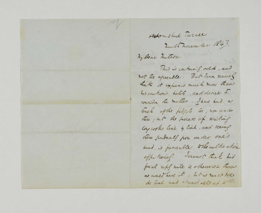a photo of one side of a handwritten letter