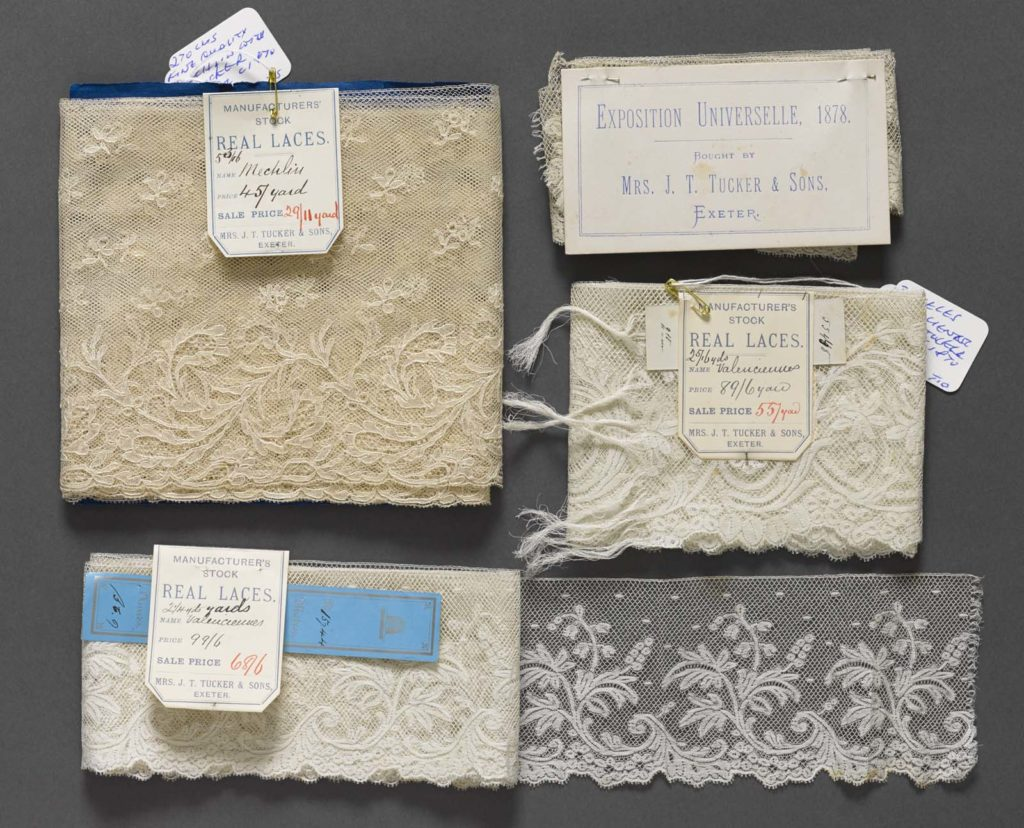 a photo of various lace samples