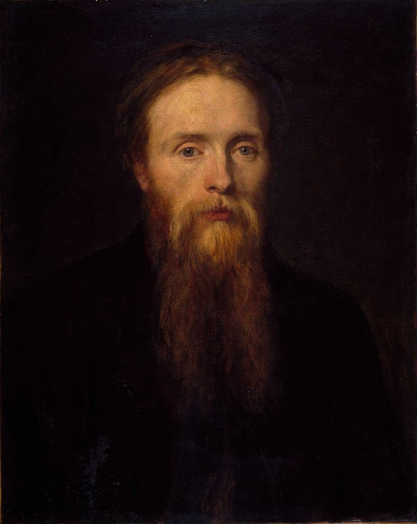an oil portrait of a man with a long beard