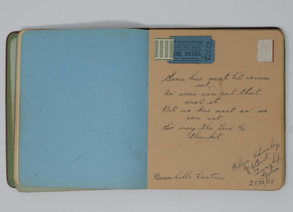 a photo of an open autograph book with writing inside it
