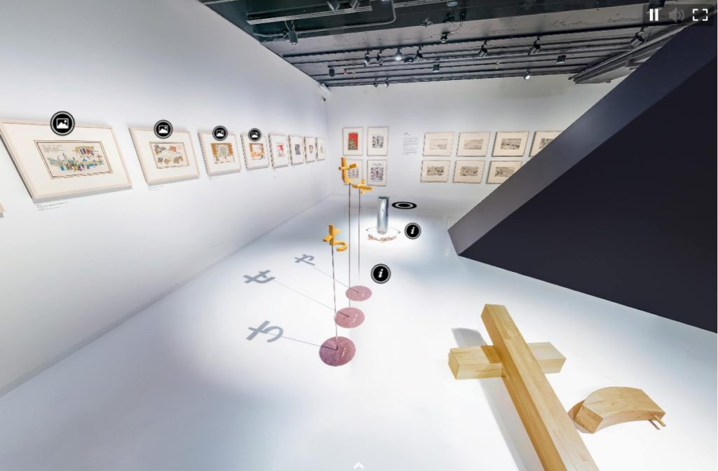 still of walkthrough of exhibition Anno's Journey at Japan House