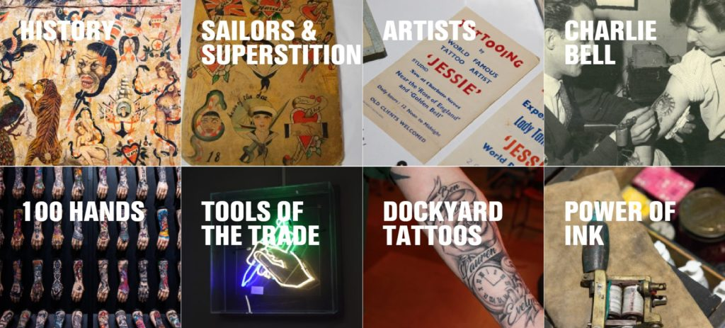 the heading for Chatham Historic Dockyard's Tattoo exhibition