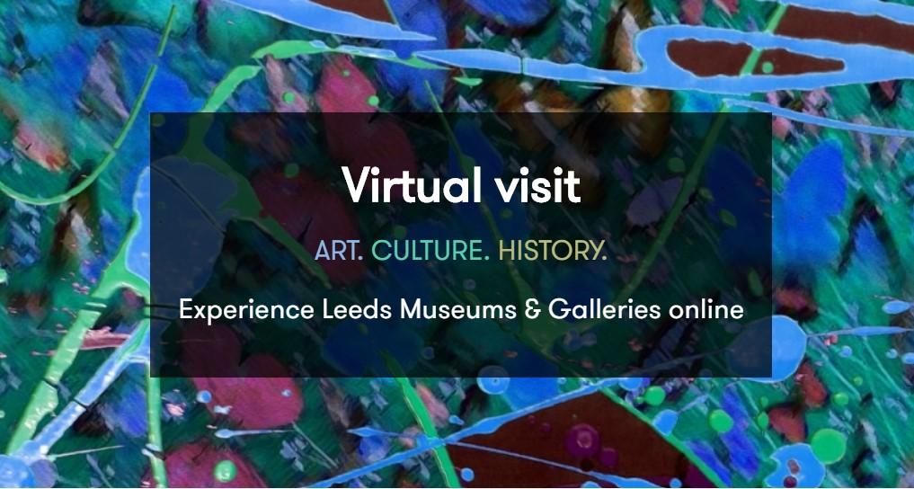 screenshot from Leeds Museums' virtual visit webpge