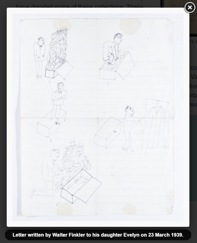 letter with illustrations featured in the Wiener Holocaust Library's online exhibitions