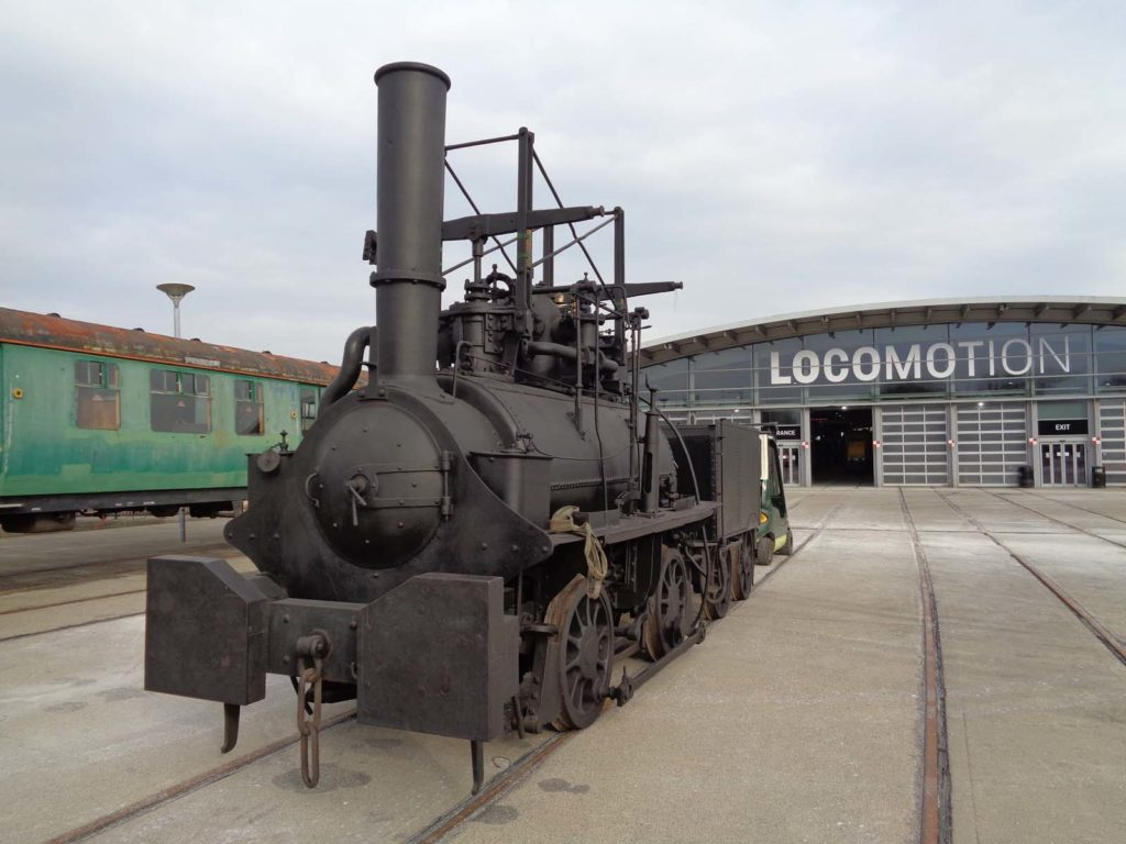 a photo of an old steam locomotive