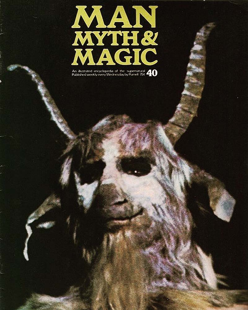 baphomet figure on a book cover