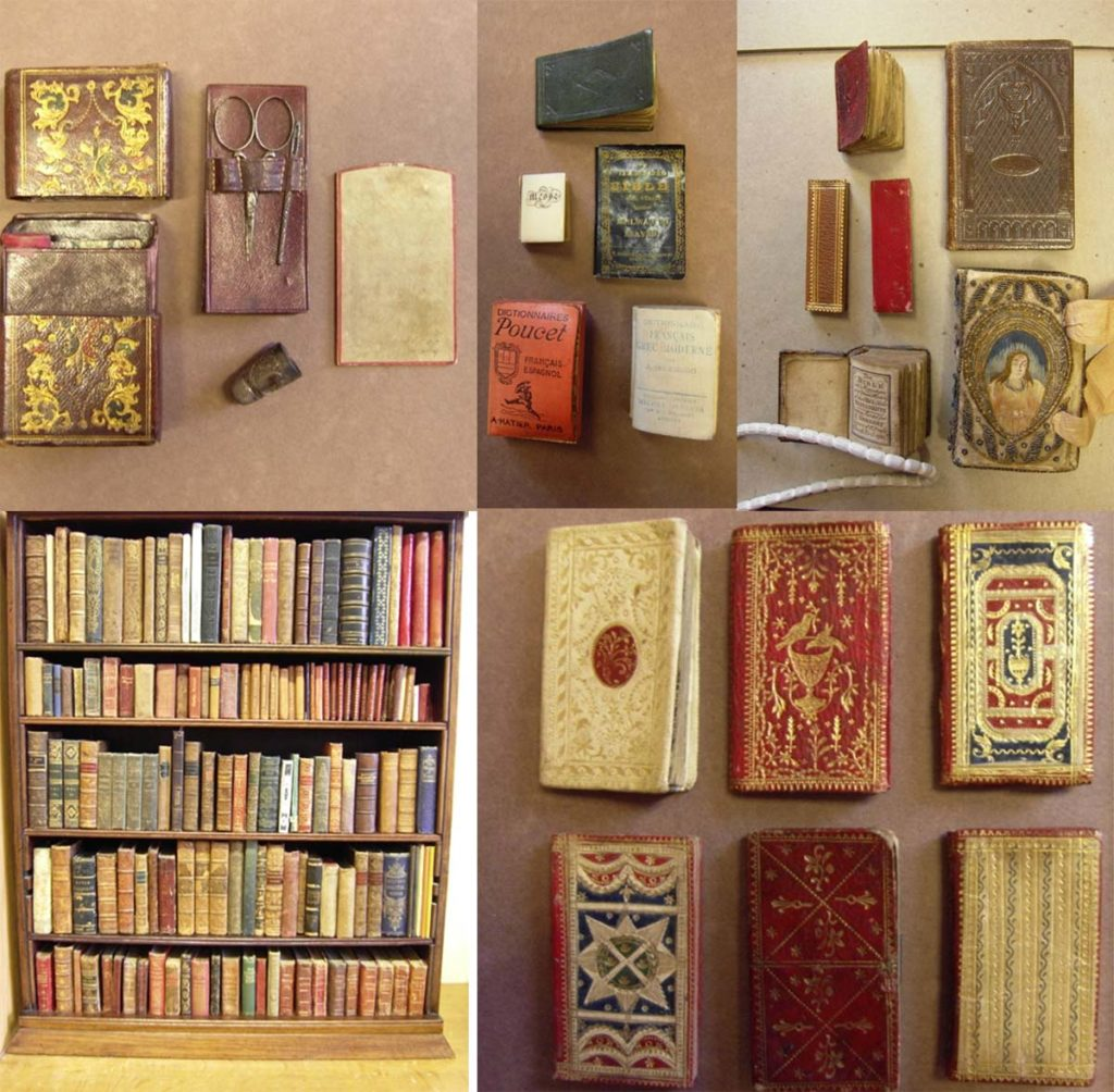 a composite image showing examples of small books