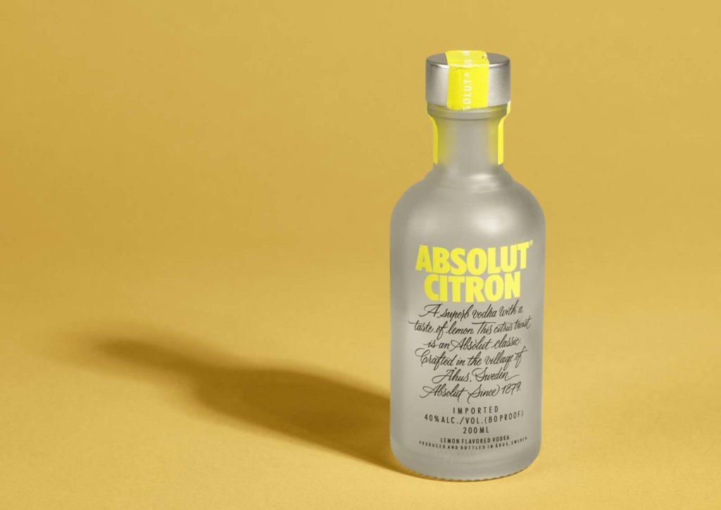 photo of a bottle of vodka