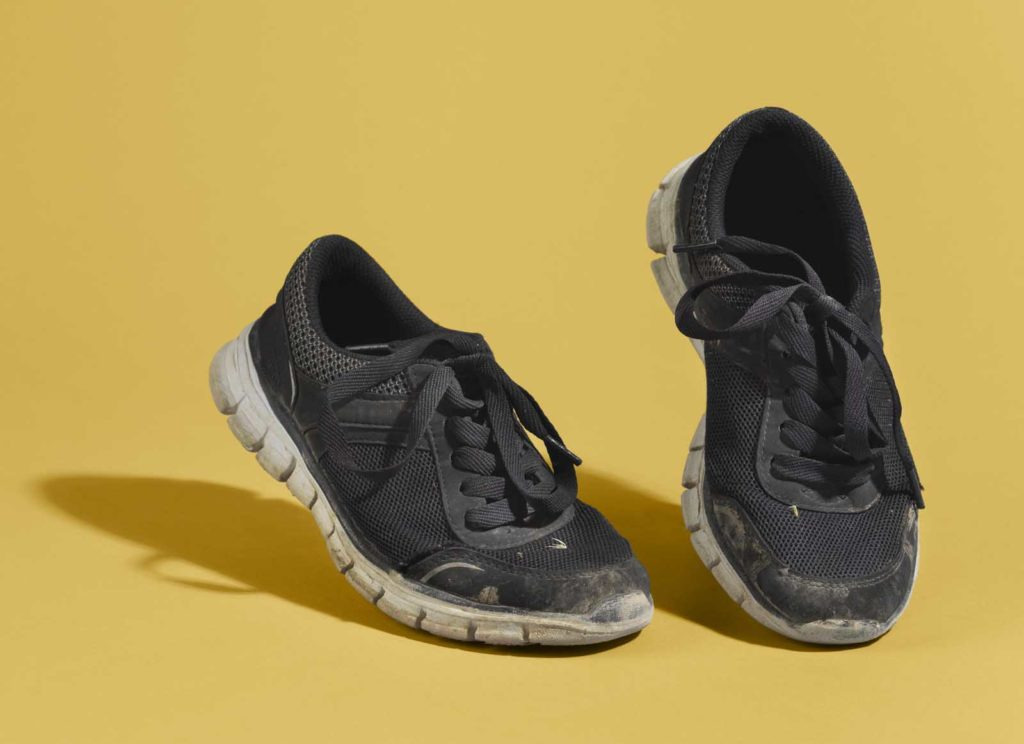 photo of a knackered old pair of trainers