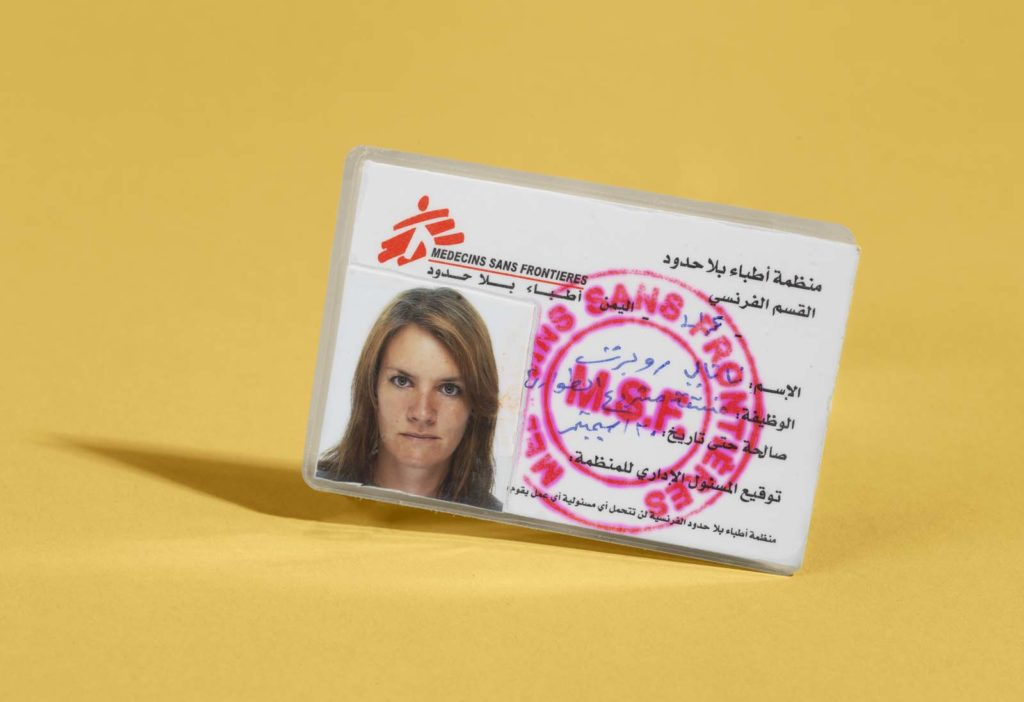 photo of an id card with a woman's photo on it