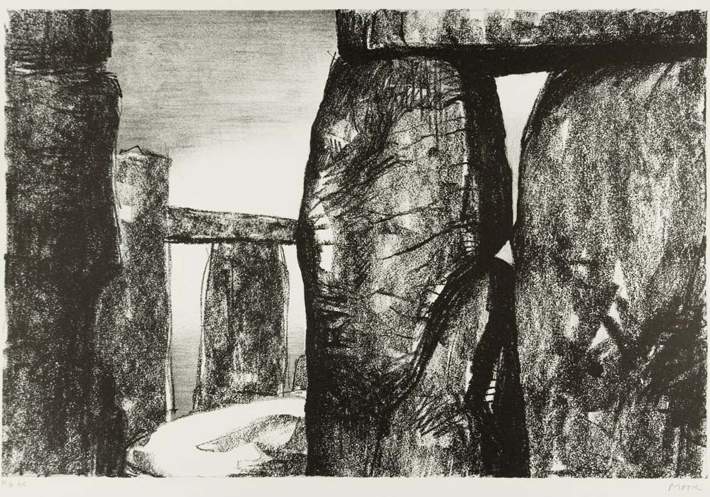 a sketch of the Sarsen stones at Stonehenge