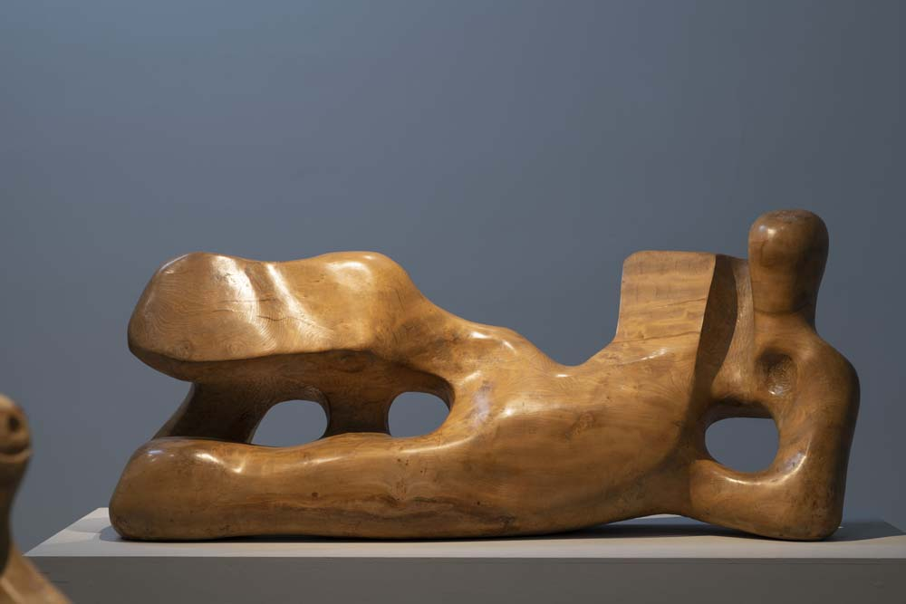 a photo of a reclining abstract figure