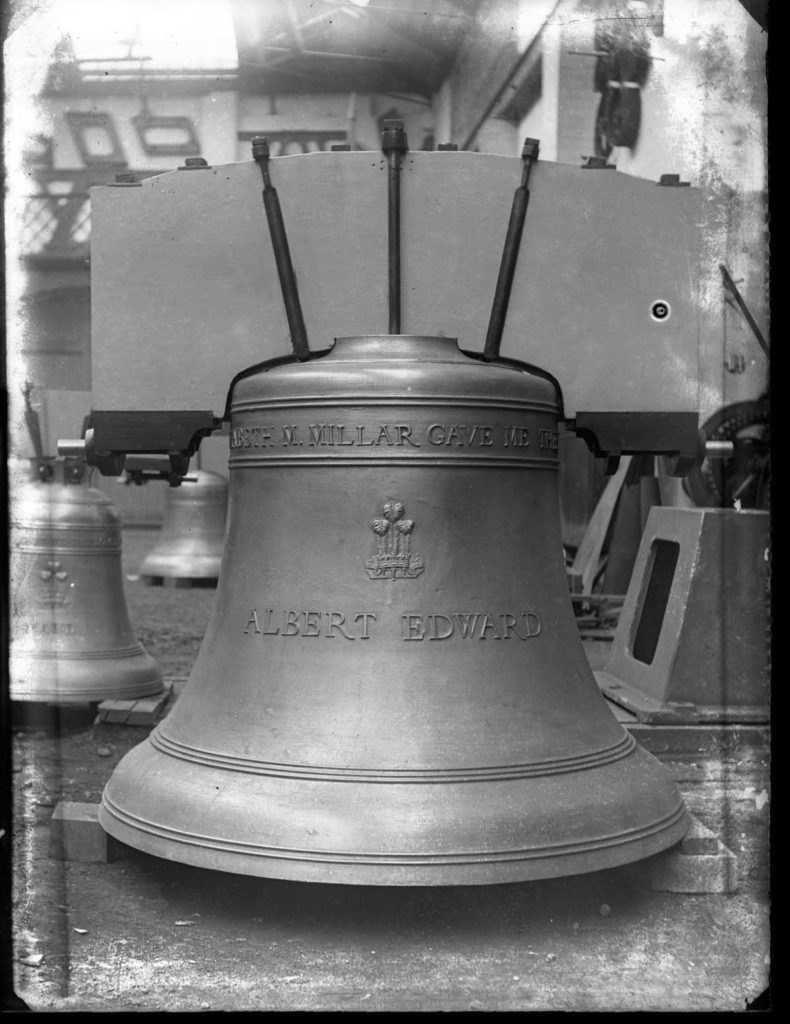 photo of a large cast bell
