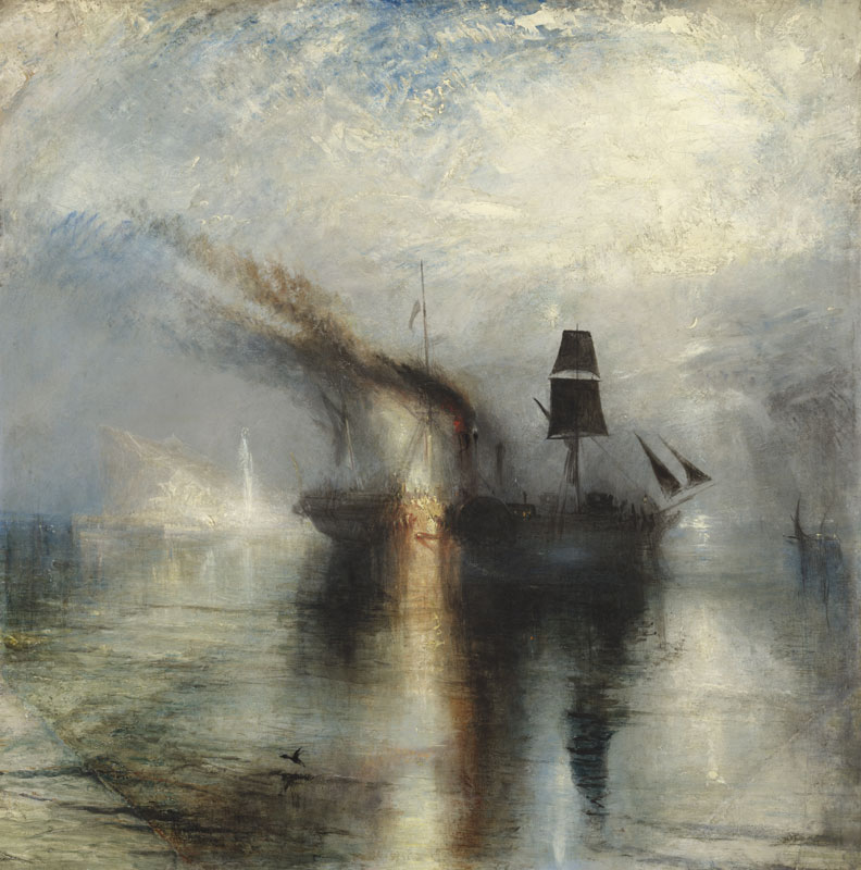 Turner painting of ships at sea
