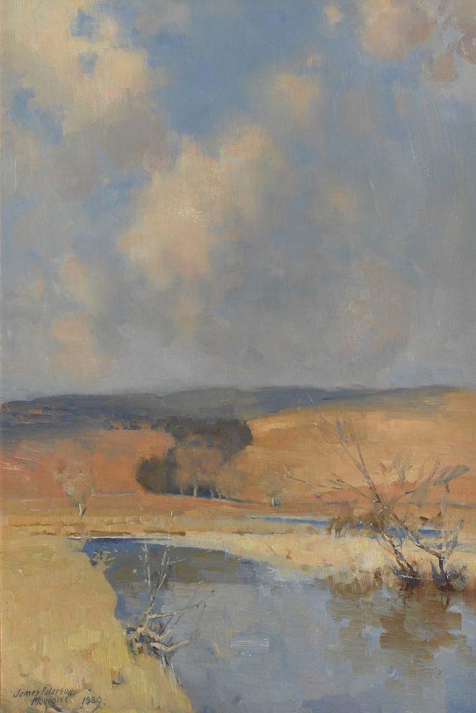 a painting across a beach