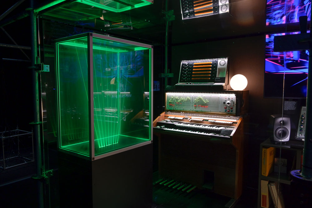 a studio for electronic music used by Jean Michel Jarr
