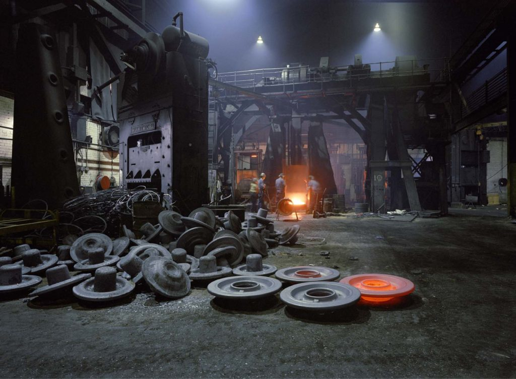 photo of a factory furnace