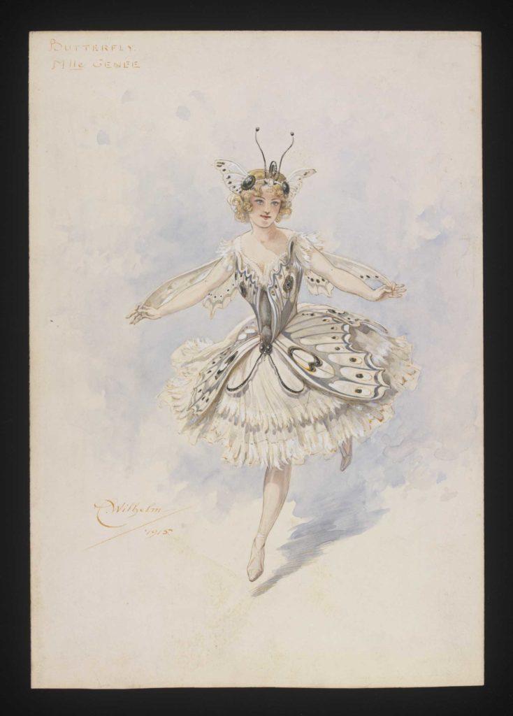 watercolour sketch of a ballerina costume