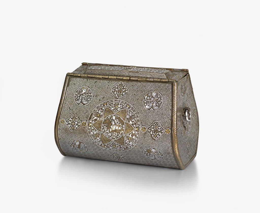 a photo of an engraved purse
