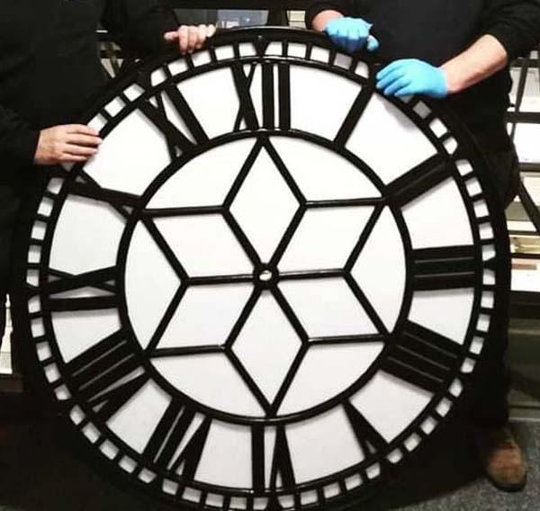 photo of a restored clock face