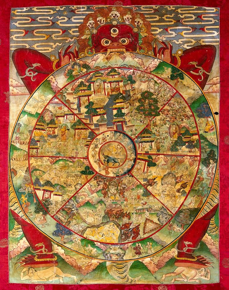 Buddhhist Wheel of Life illustration