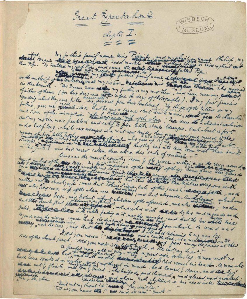 a handwritten ink manuscript