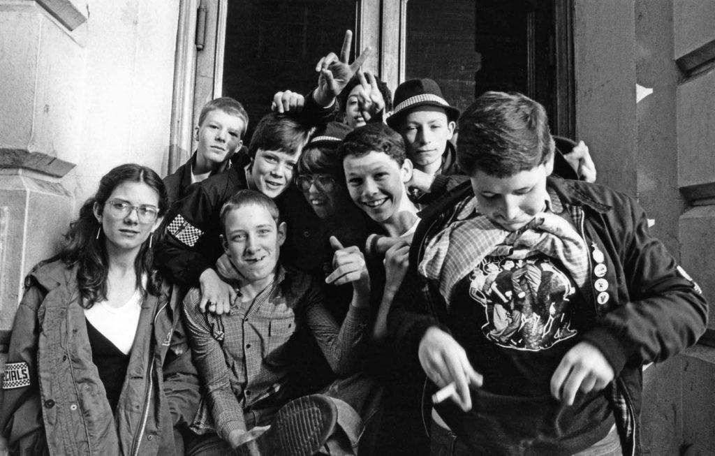 photo of young teenage ska fans