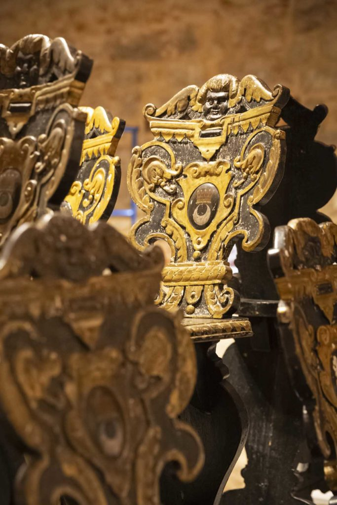 close up of the chairs in the conservation studio