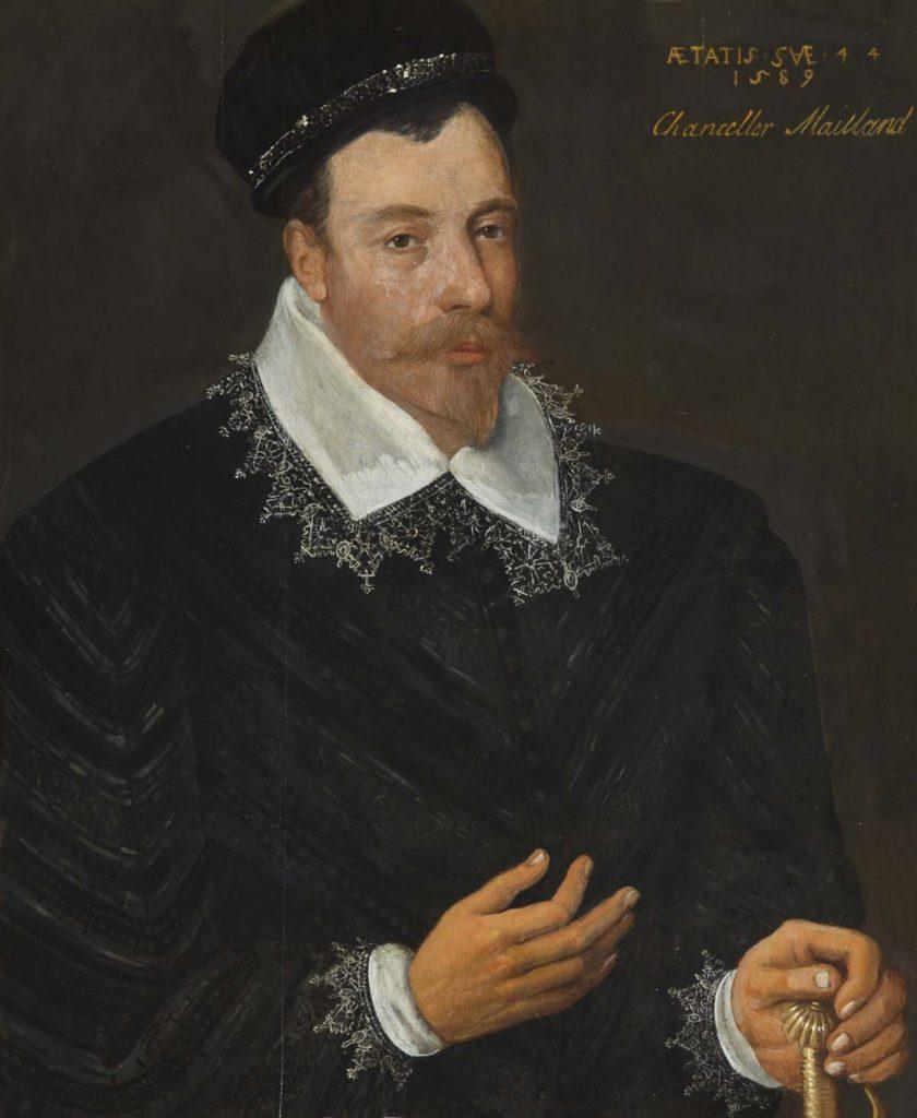 panted portrait of a Tudor gentleman with silk collar