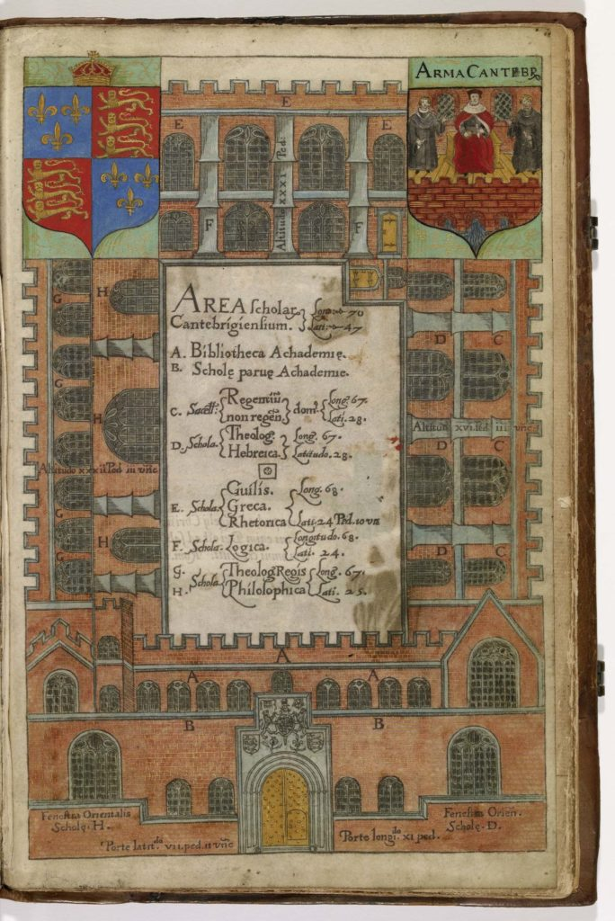 an illustrated illuminated manuscript with patterns and text
