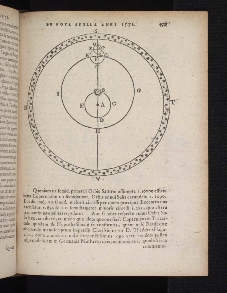 book page with circular or 'ellipsis' illustration
