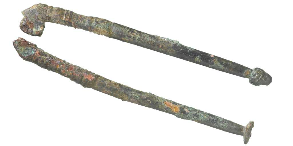 photo of a bent pin