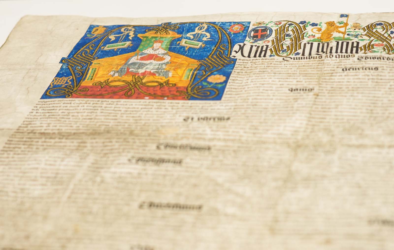photo of an illuminated manuscript