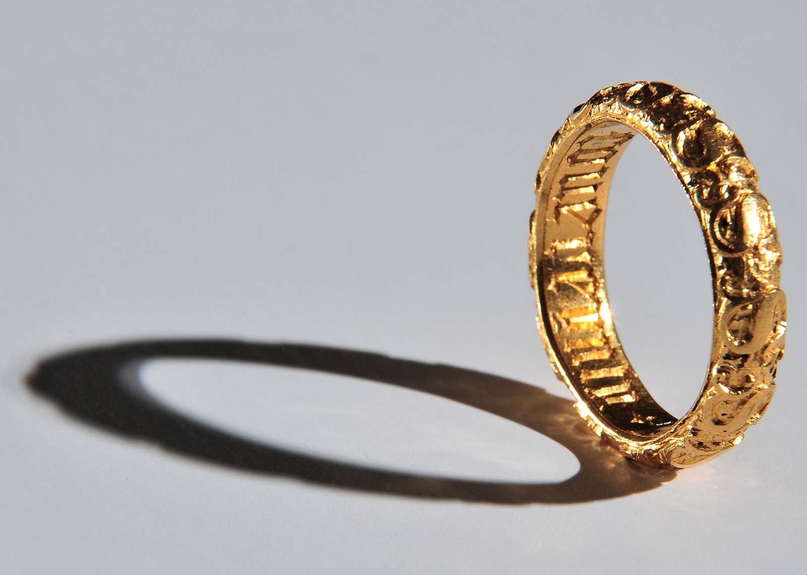 Photo of an engraved gold ring