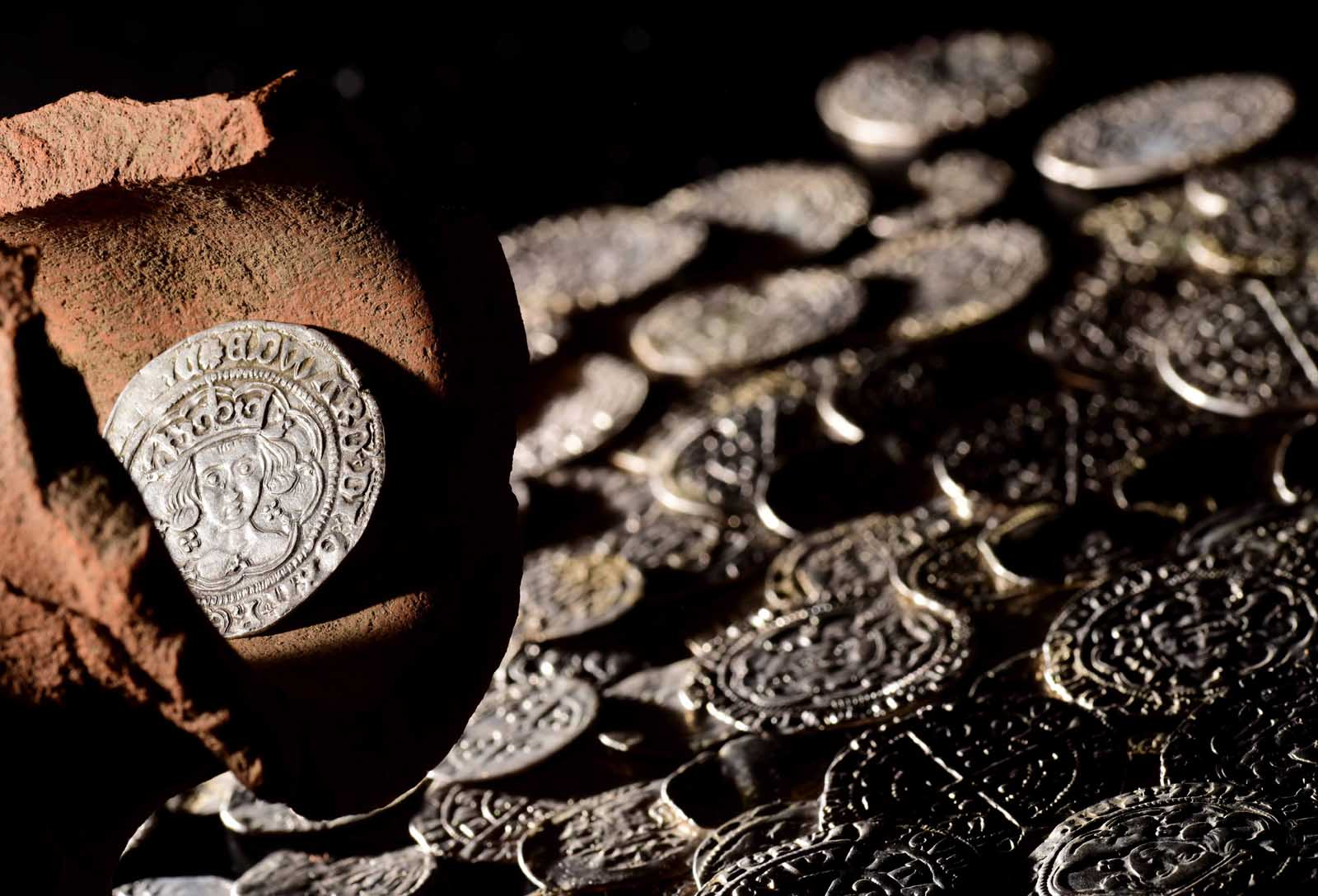 photo of a hoard of silver coins