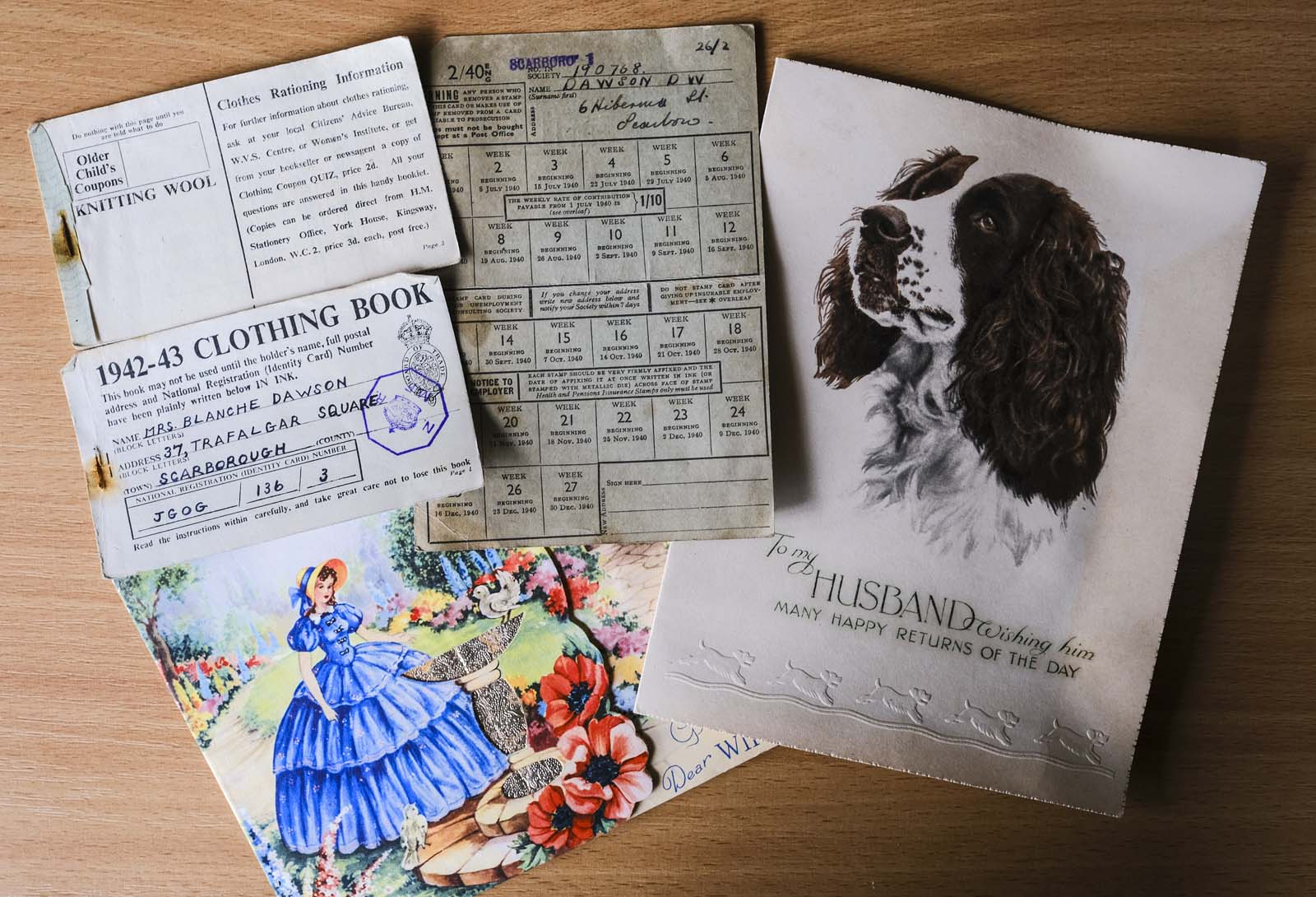assorted handwritten letters and postcards