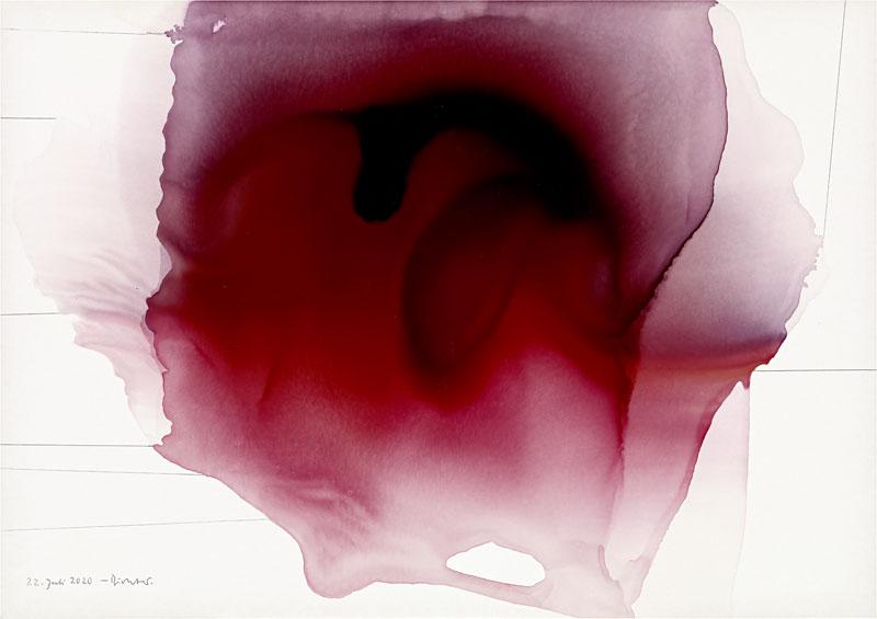 pink ink blot